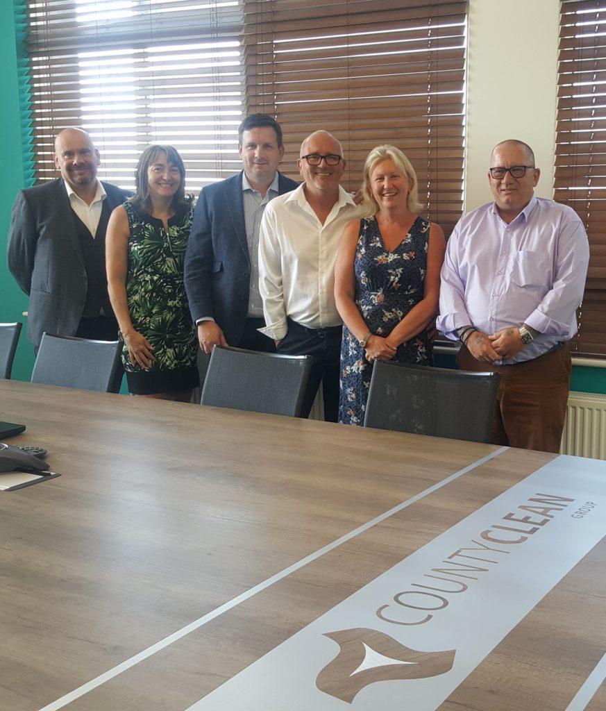 CountyClean Group Boardroom Leaders - Louis Dimmock, Donna Prince, Trevor Beer, Mike and Debbie Walker, Wayne Holdaway