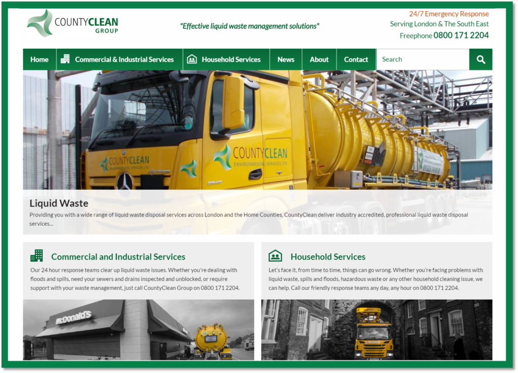 CountyClean Group - Rebrand Announcement - New Design Website - New Strapline - Business News