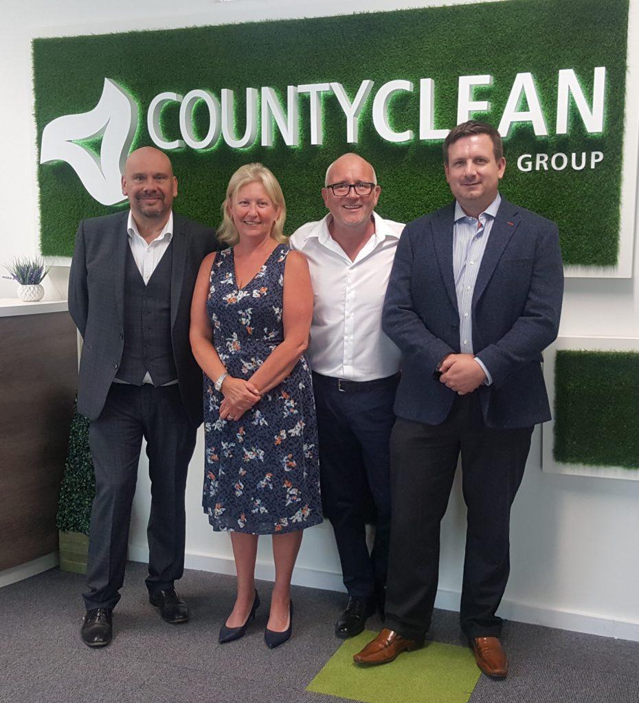 Doubles Advantage for CountyClean's Board of Directors - Louis Dimmock, Debbie and Mike Walker, Trevor Beer